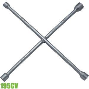 195CV Tay công chữ thập, tuýp 6 cạnh. Chrome-Vanadium