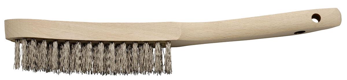 250-ST bàn chải thép cán gỗ có 2 lỗ treo Elora