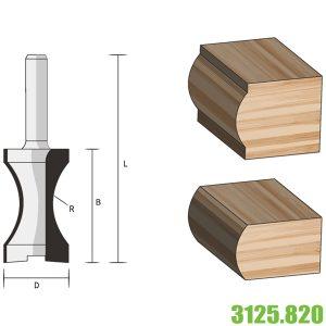 3125.820 mũi phay router tạo hình bán nguyệt cho gỗ