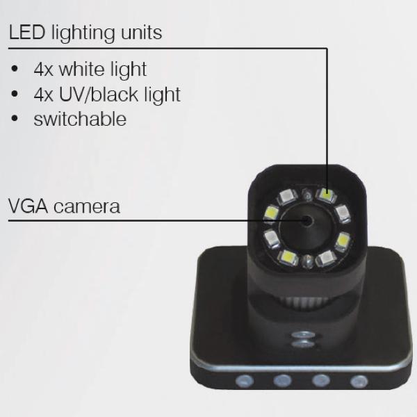 camera và LEd chieu sang của kính lup Vogel Germany