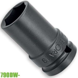 790DW- đầu tuýp 6 cạnh, loại dài 52mm, vuông 1/2 inch