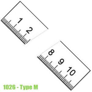 1026 Thước lá bằng thép không gỉ, bề mặt chống chói 150-6000mm, type M