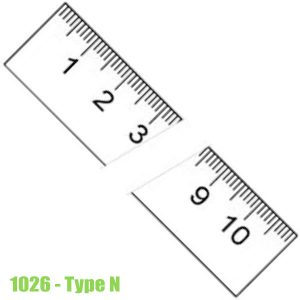1026 Thước lá bằng thép không gỉ, bề mặt chống chói 150-6000mm, type N