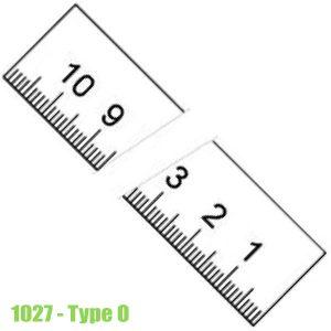 1027 Thước lá bằng thép không gỉ, bề mặt chống chói 150-6000mm, type O