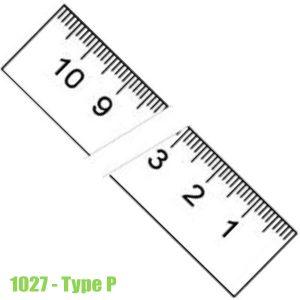 1027 Thước lá bằng thép không gỉ, bề mặt chống chói 150-6000mm, type P