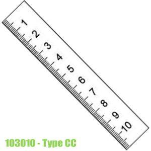 103010 Thước lá bằng thép không gỉ, bề mặt chống chói 300-10000mm, type CC