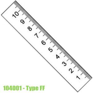 104001 Thước lá bằng thép không gỉ, bề mặt chống chói 300-10000mm, type FF