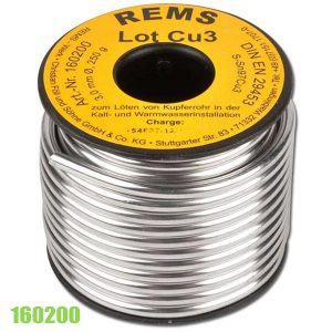 160200 Dây hàn mềm 3mm, REMS Lot Cu 3