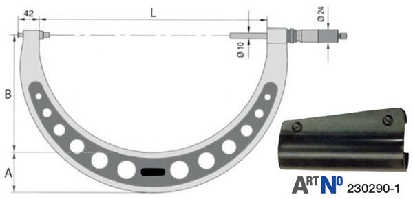 23017 Series Panme cơ đo ngoài 200-1500mm, hàng chính hãng Vogel Germany