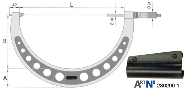 23029 Series Panme cơ đo ngoài 300-600mm, độ chính xác 0.01mm.