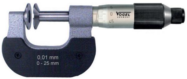 23112 Series Panme cơ đo ngoài 0-100mm, ±0.01mm, ngàm đĩa.