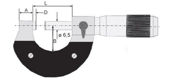 23132 Panme cơ đo ngoài, độ chính xác ±0.01mm