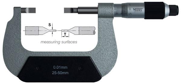 23138 Series Panme cơ đo ngoài 0-100mm, ngàm mỏng, độ chính xác 0.01mm