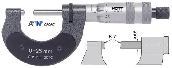 232912 Series Panme cơ đo ngoài 0-50mm, độ chính xác 0.01mm, sx tại Đức