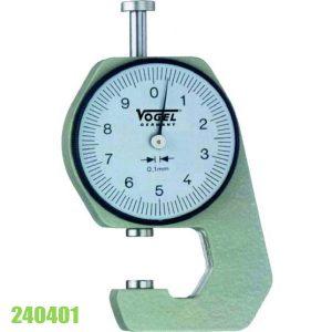 24040 Đồng hồ đo độ dày 0-20 mm, ±0.1mm, đầu đo phẳng
