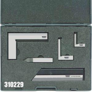 310229 bộ thước eke kỹ thuật 5 chi tiết trong vali chuyên dụng.