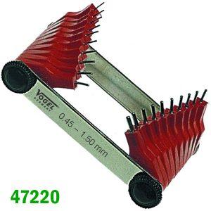 472201 Dưỡng đo lỗ từ Ø0.45mm đến Ø3mm. Vogel Germany