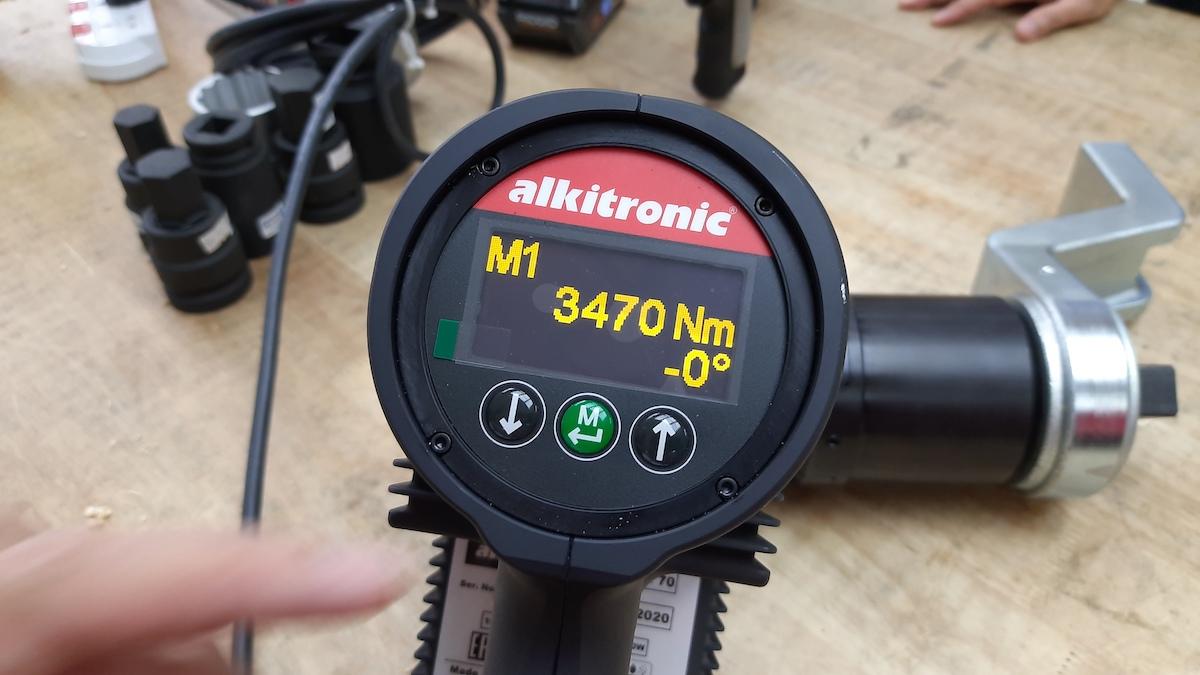 Bộ chỉ thị trên máy xiết ốc bằng điện ECWip70