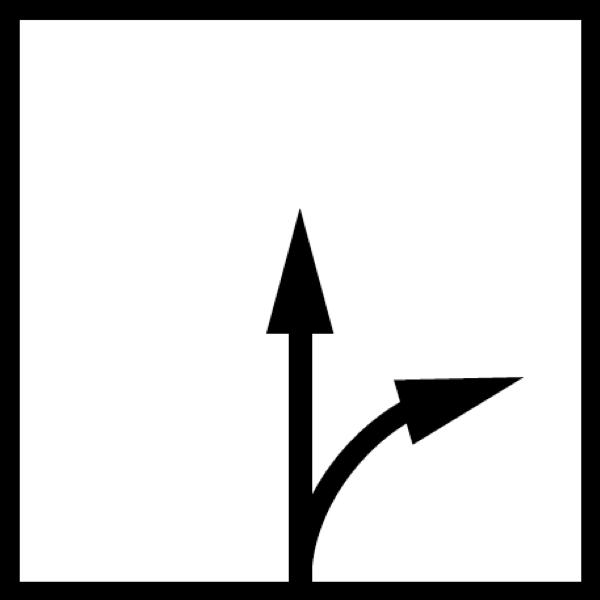 hướng cắt thẳng bo cua sang phai ban kinh cong nho