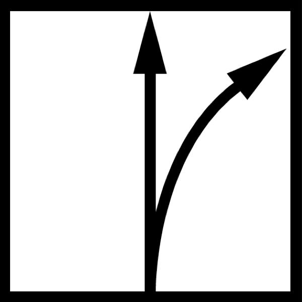 hướng cắt thẳng bo cua sang phai bán kinh cong lớn