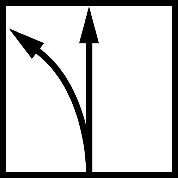 hướng cắt thẳng bo cua sang trái bán kính cong lớn