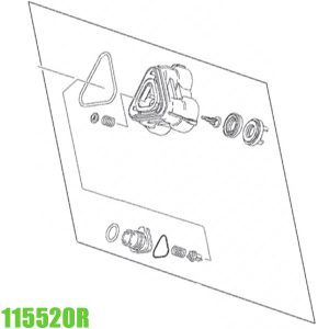 115520R Cylinder head compl. REMS E-Push 2