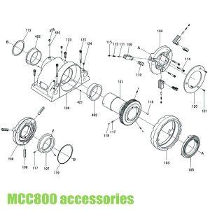Phụ kiện cho máy tiện ren MCC800 Japan