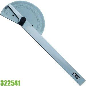 322541 Thước đo góc 0 - 180°, dài 150mm Vogel Germany