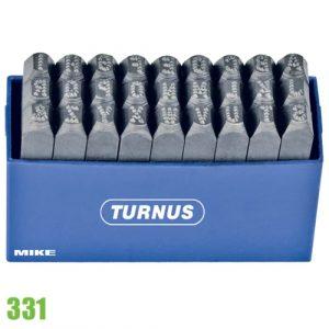 331-00 Bộ đục chữ chấm bi bằng thép theo tiêu chuẩn DIN 1451