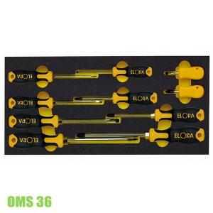 OMS-36 Bộ tô vít dẹp và hoa thị 10 món Elora