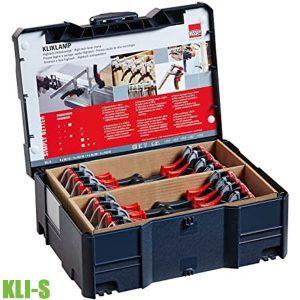 KLI-S Bộ cảo kẹp nhanh 16 cái đựng trong thùng systainer BESSEY