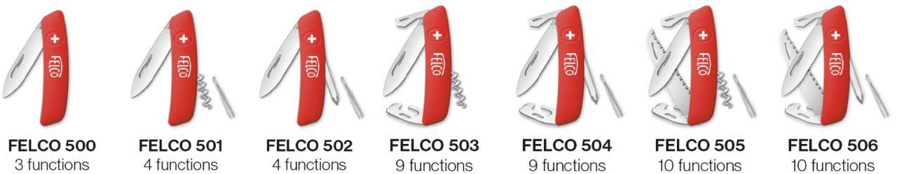 7 loại dao nhíp gấp cao cấp của FELCO Thụy Sỹ