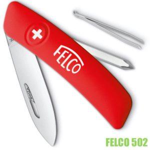 Felco 502 Dao nhíp bỏ túi 4 thành phần tua vít, nhíp, dao