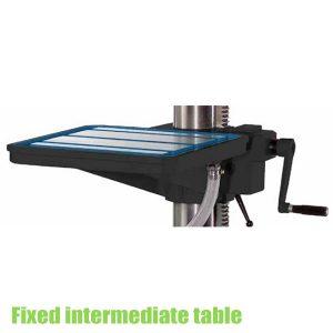 Fixed intermediate table, drill accessories