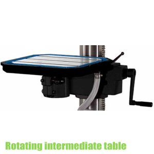 Rotating intermediate table, drill accessories