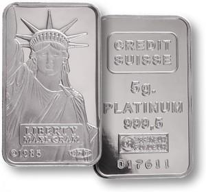 giá của kim loại platinum