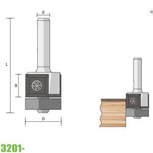 mũi phay vát mép 3201