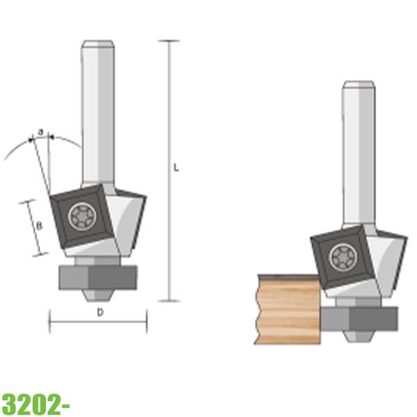 mũi phay vát mép 3202