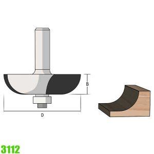 mũi phay tạo rãnh đường tròn 3112