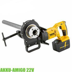 Rems Akku Amigo 22V máy tiện ren ống, sắt thanh, chạy bằng pin