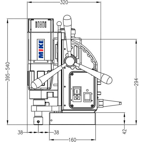 ECO40 Máy khoan từ Ø12-40mm, lực từ 15000N Euroboor Hà Lan