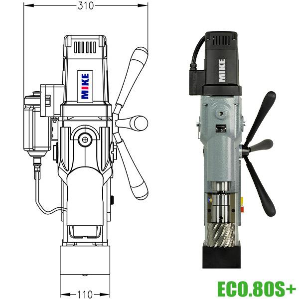 ECO.80S+ Máy khoan từ Ø12-Ø80 mm, công suất 1,8kW