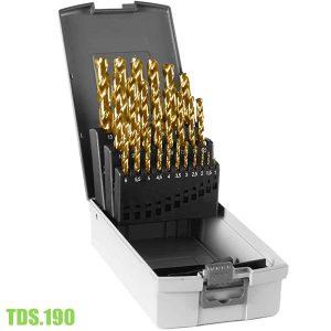 TDS.190-Bộ mũi khoan kim loại HSS TiN, 25 chi tiết Ø1-13mm