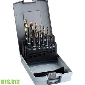 DTS.312 Bộ mũi khoan và taro kết hợp, Ø2,5-10,2mm M3-M12