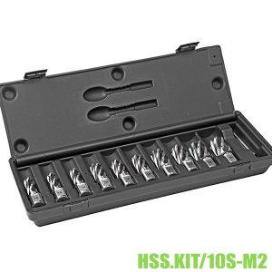 HSS.KIT/10-M2 Bộ mũi khoan từ HSS 10 mũi Ø14-26mm, dài 30-55mm