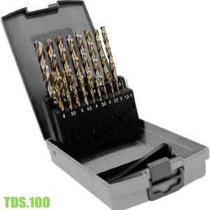 TDS.100 Bộ mũi khoan kim loại HSS-Co 19 mũi, Ø1–10mm