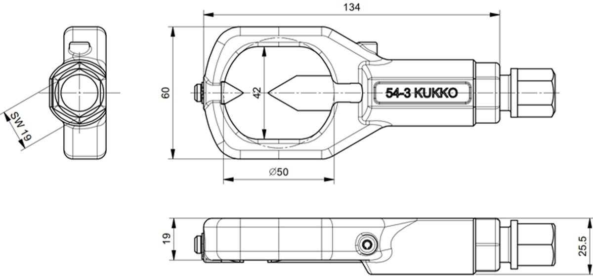 K-54-B Bộ cắt đai ốc bằng cơ khí từ M6 đến M24 - Kukko Germany